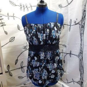Torrid - Blue Flower Print Tank Top